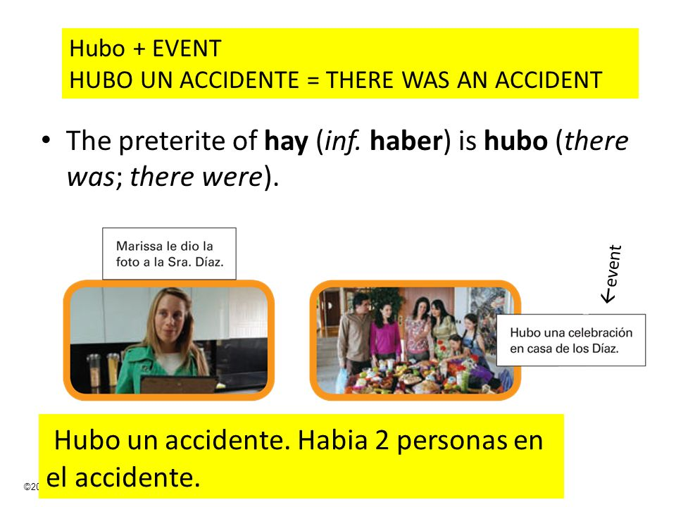 Hubo un accidente. Habia 2 personas en el accidente.