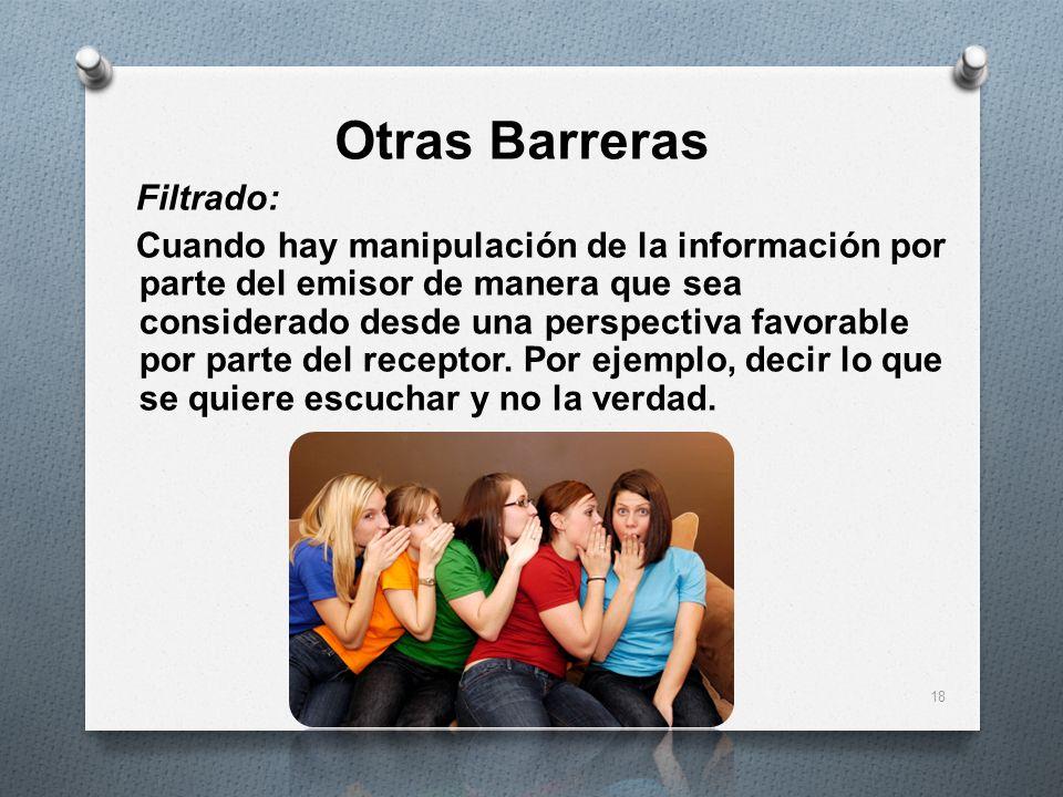 Otras Barreras Filtrado: