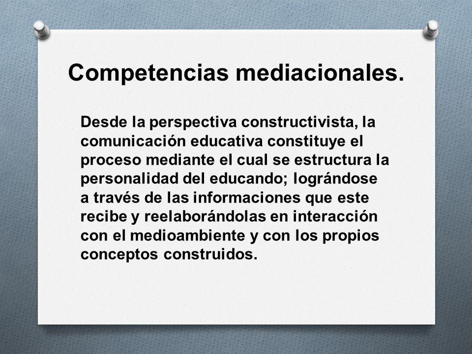 Competencias mediacionales.