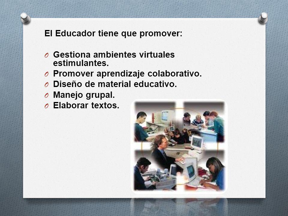 El Educador tiene que promover: