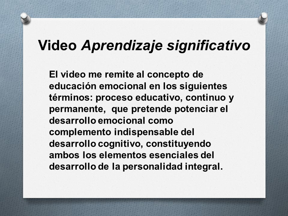 Video Aprendizaje significativo
