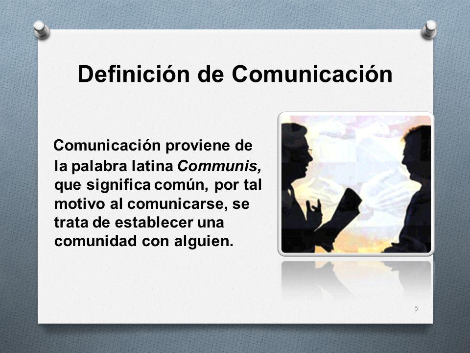 Definición de Comunicación