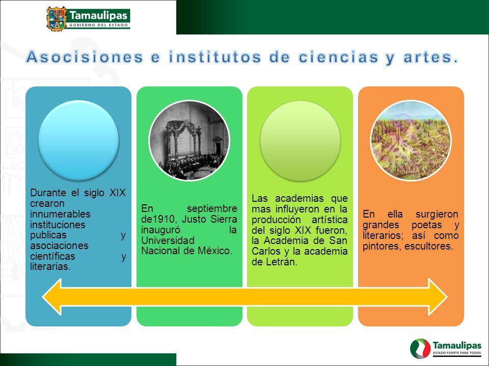 Asocisiones e institutos de ciencias y artes.