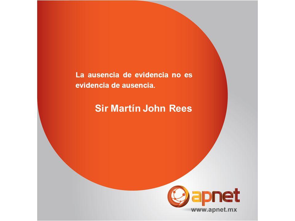 La ausencia de evidencia no es evidencia de ausencia.