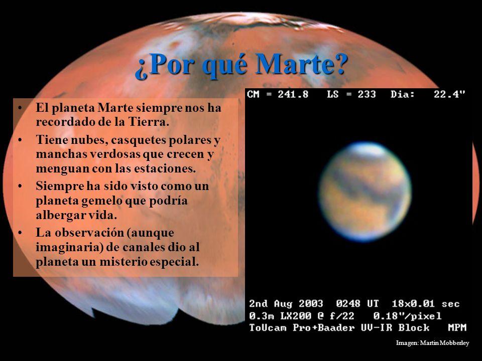 ¿Por qué Marte El planeta Marte siempre nos ha recordado de la Tierra.