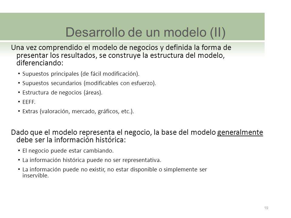 Desarrollo de un modelo (II)