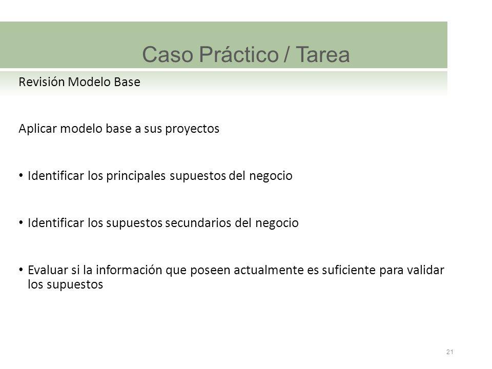 Caso Práctico / Tarea Revisión Modelo Base