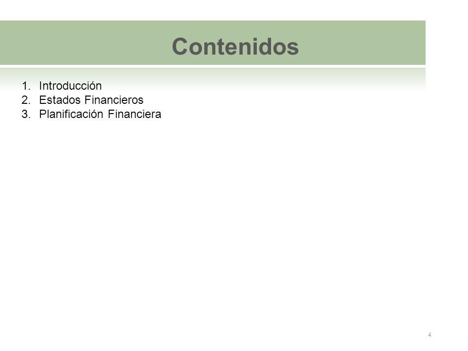 Contenidos Introducción Estados Financieros Planificación Financiera