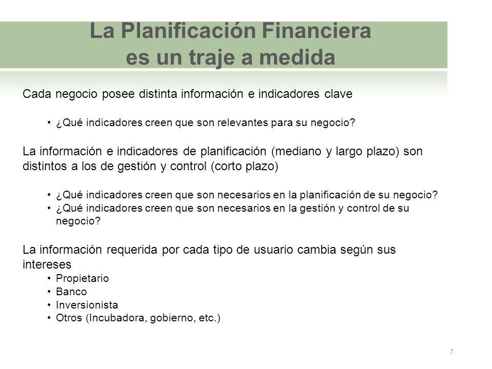 La Planificación Financiera es un traje a medida