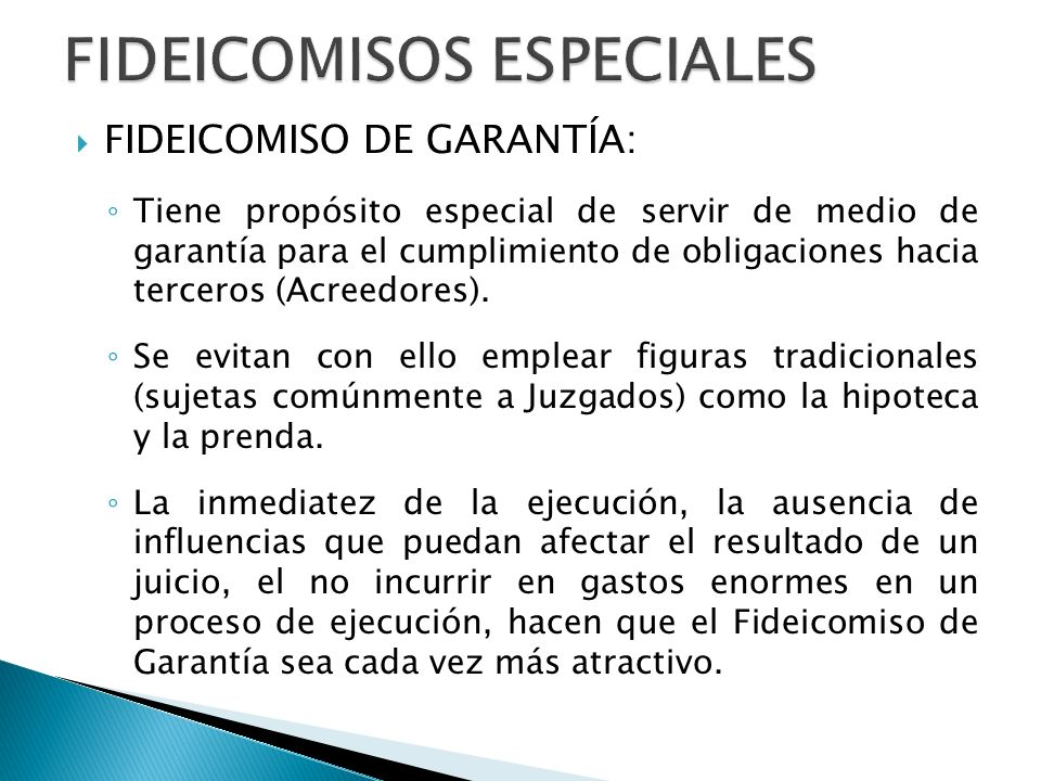 FIDEICOMISOS ESPECIALES