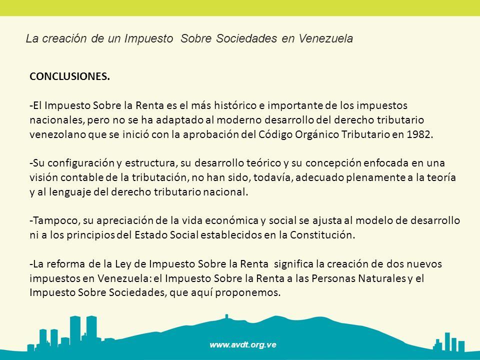 La creación de un Impuesto Sobre Sociedades en Venezuela