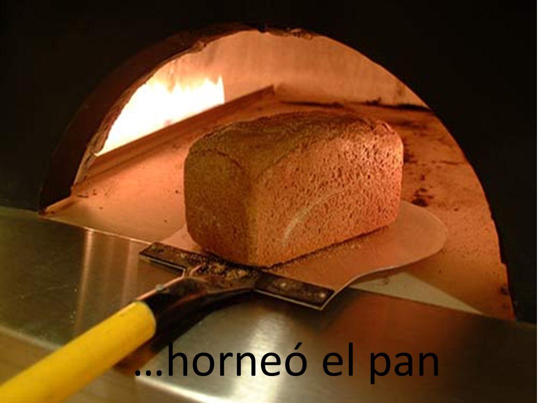 …horneó el pan