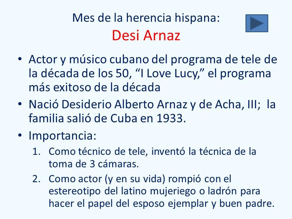 Mes de la herencia hispana: Desi Arnaz