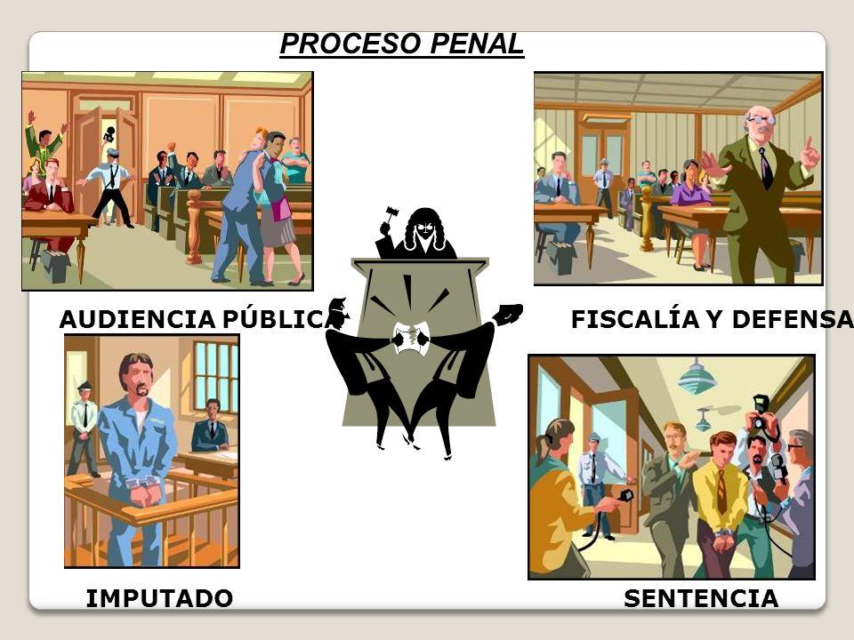 PROCESO PENAL AUDIENCIA PÚBLICA FISCALÍA Y DEFENSA IMPUTADO SENTENCIA
