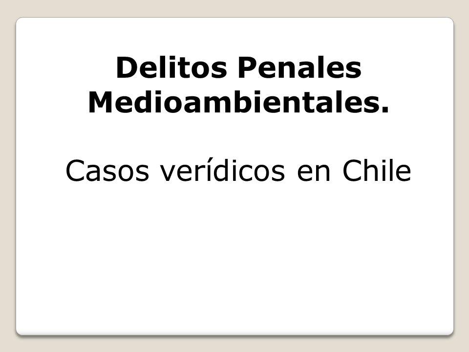 Delitos Penales Medioambientales.