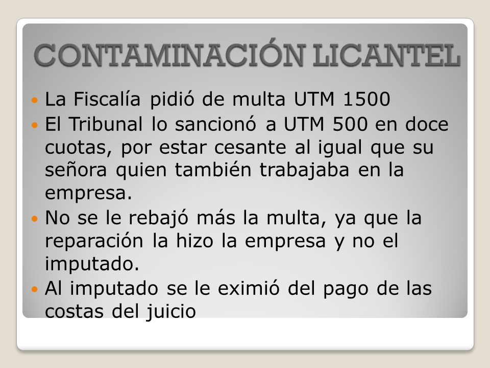 La Fiscalía pidió de multa UTM 1500