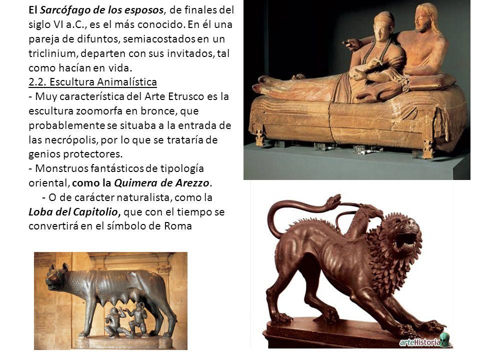 El Sarcófago de los esposos, de finales del siglo VI a. C