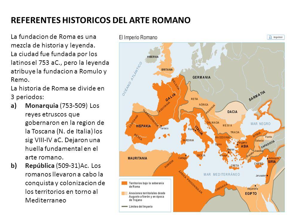 REFERENTES HISTORICOS DEL ARTE ROMANO