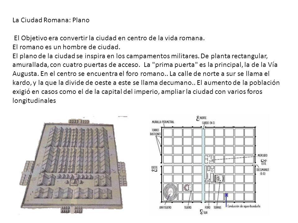 La Ciudad Romana: Plano El Objetivo era convertir la ciudad en centro de la vida romana.