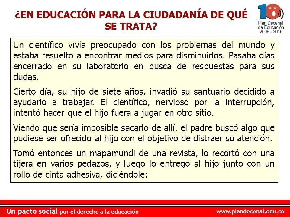 ¿EN EDUCACIÓN PARA LA CIUDADANÍA DE QUÉ SE TRATA