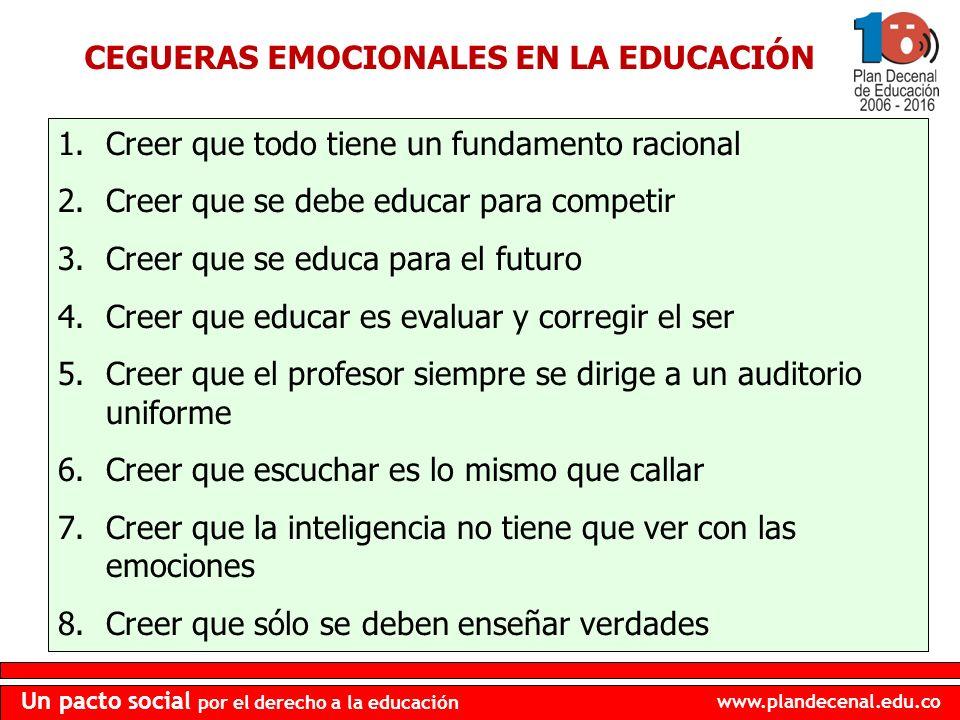 CEGUERAS EMOCIONALES EN LA EDUCACIÓN