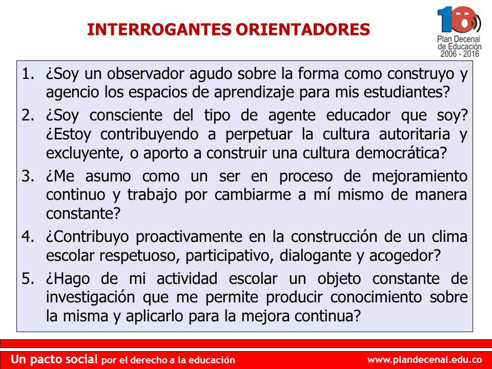 INTERROGANTES ORIENTADORES