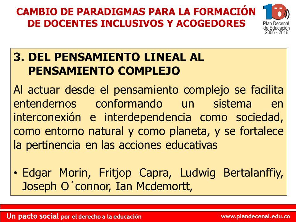 DEL PENSAMIENTO LINEAL AL PENSAMIENTO COMPLEJO