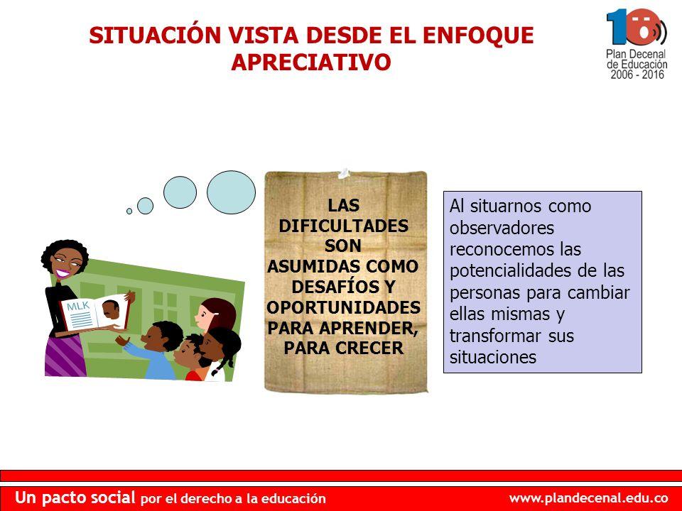 SITUACIÓN VISTA DESDE EL ENFOQUE APRECIATIVO