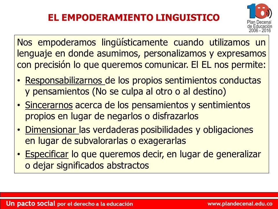 EL EMPODERAMIENTO LINGUISTICO