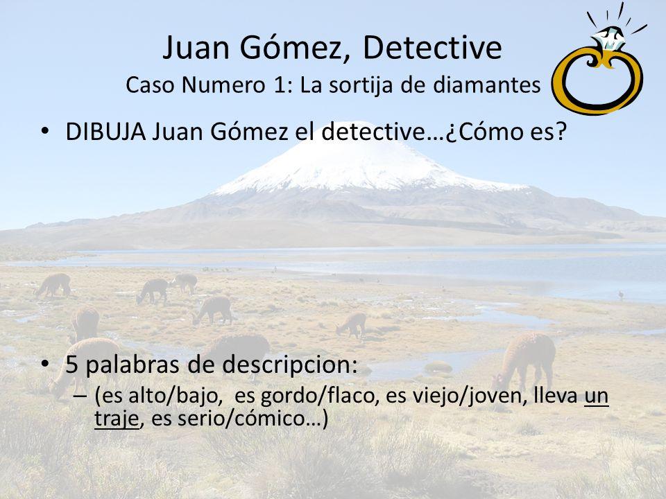 Juan Gómez, Detective Caso Numero 1: La sortija de diamantes
