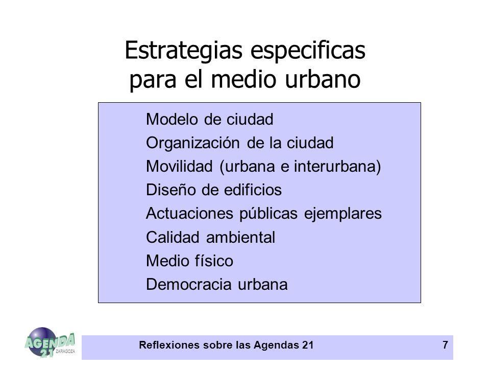 Estrategias especificas para el medio urbano