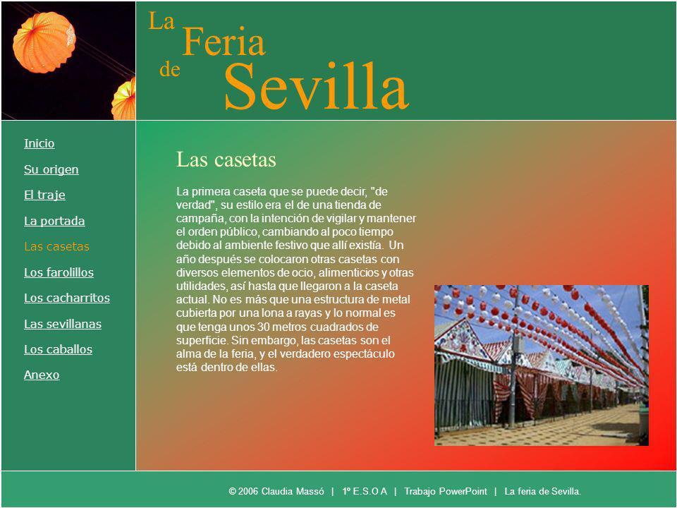 Sevilla Feria La de Las casetas Inicio Su origen El traje La portada