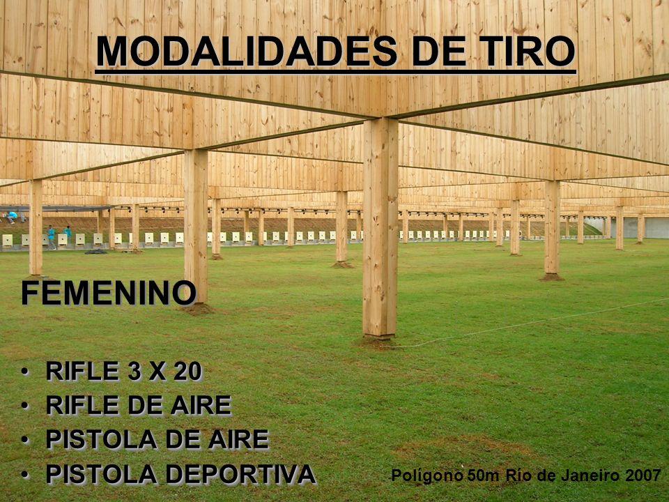 MODALIDADES DE TIRO FEMENINO RIFLE 3 X 20 RIFLE DE AIRE
