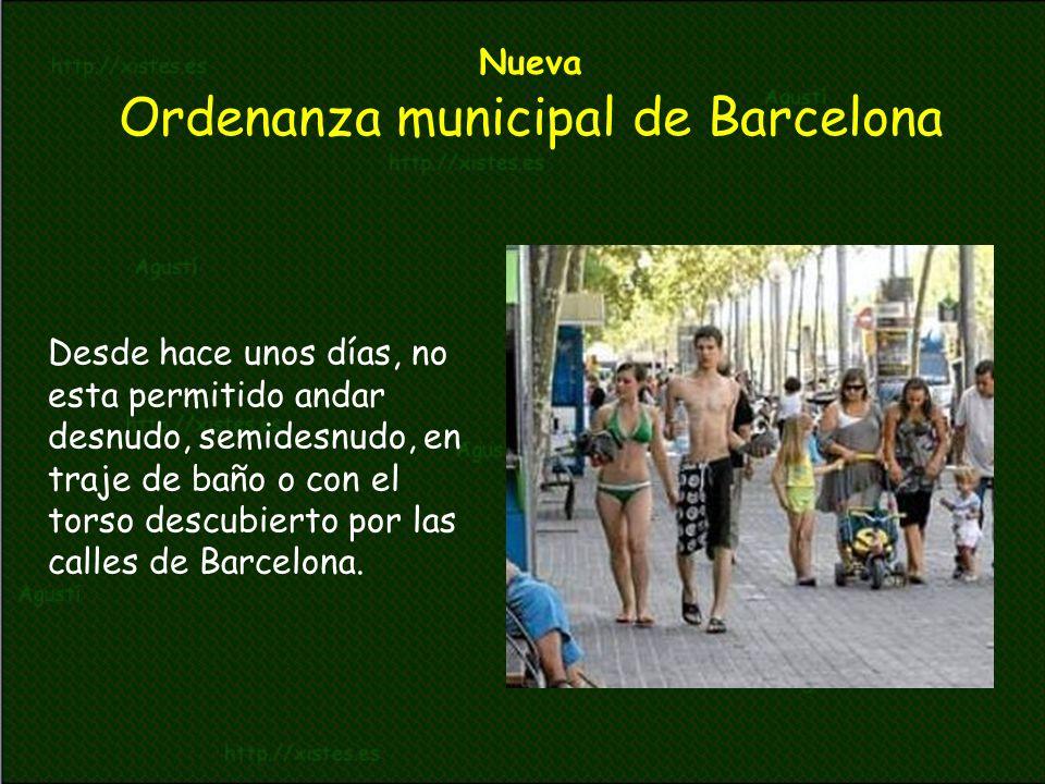 Nueva Ordenanza municipal de Barcelona