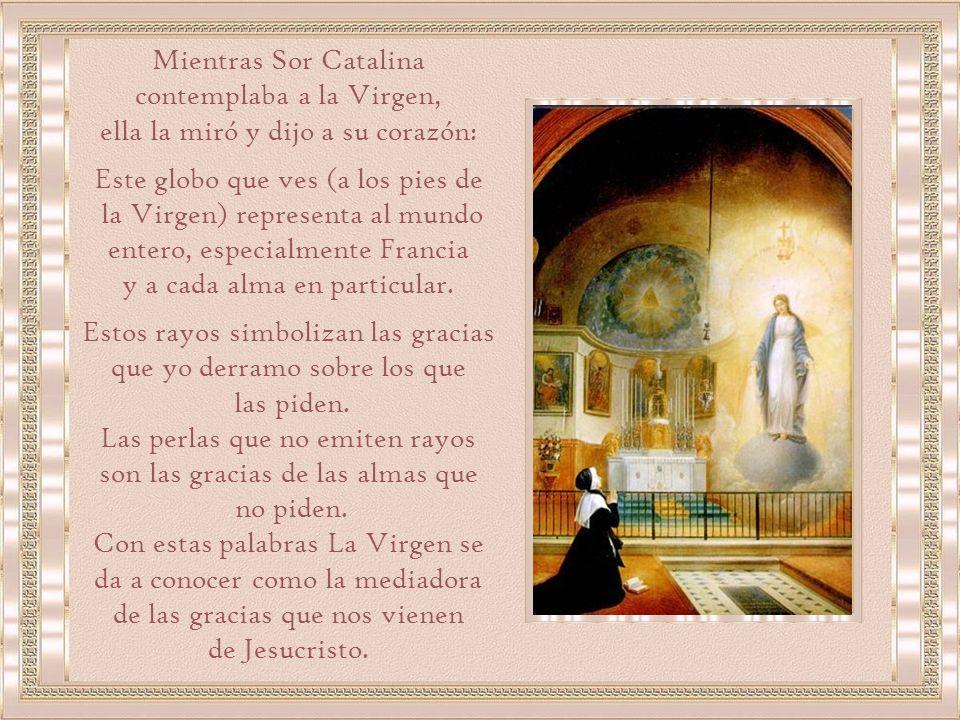 Mientras Sor Catalina contemplaba a la Virgen,
