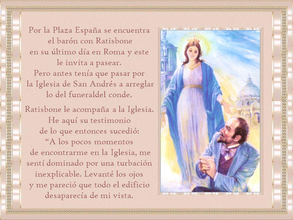 Por la Plaza España se encuentra el barón con Ratisbone