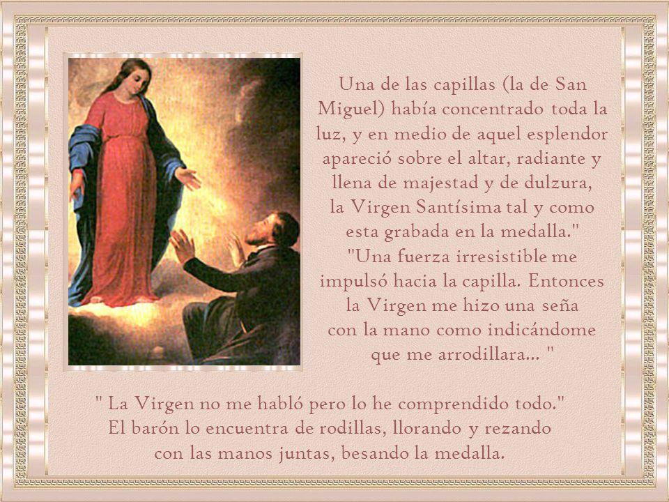 la Virgen Santísima tal y como esta grabada en la medalla.