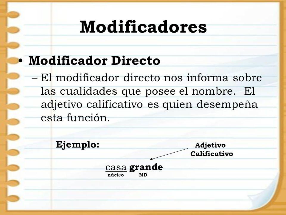 Modificadores Modificador Directo
