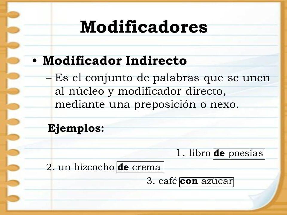 Modificadores Modificador Indirecto