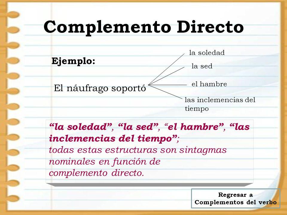 Regresar a Complementos del verbo