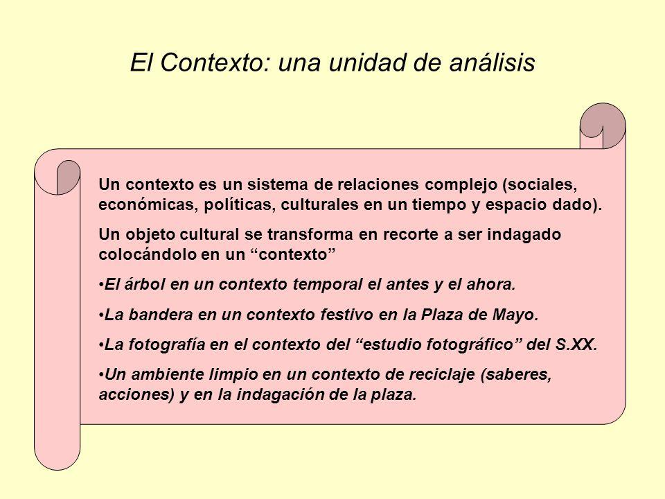 El Contexto: una unidad de análisis