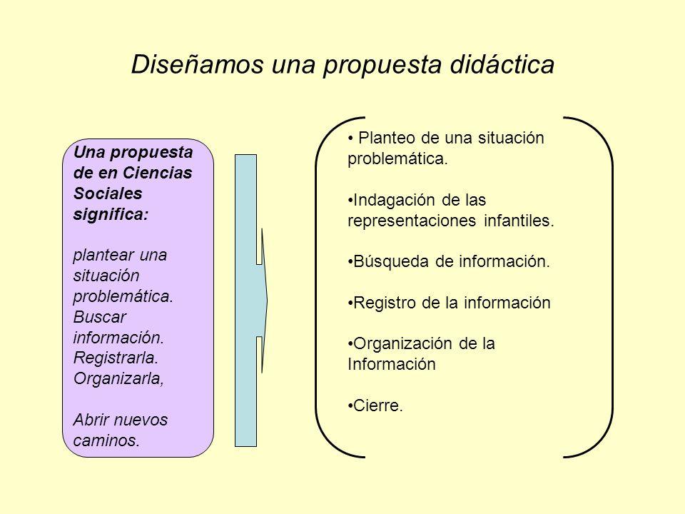 Diseñamos una propuesta didáctica