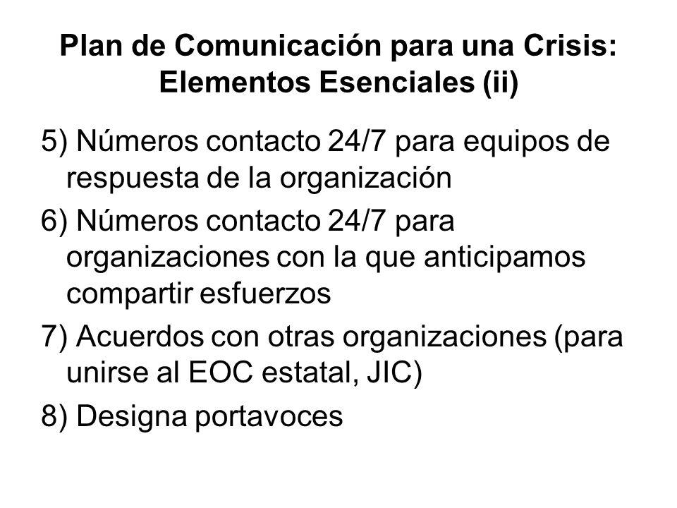 Plan de Comunicación para una Crisis: Elementos Esenciales (ii)