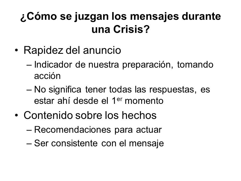 ¿Cómo se juzgan los mensajes durante una Crisis