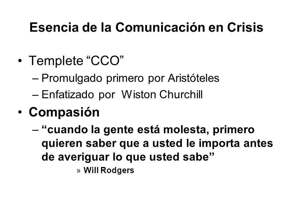Esencia de la Comunicación en Crisis