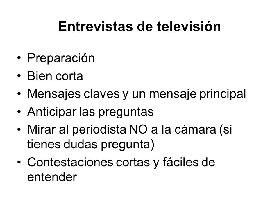 Entrevistas de televisión