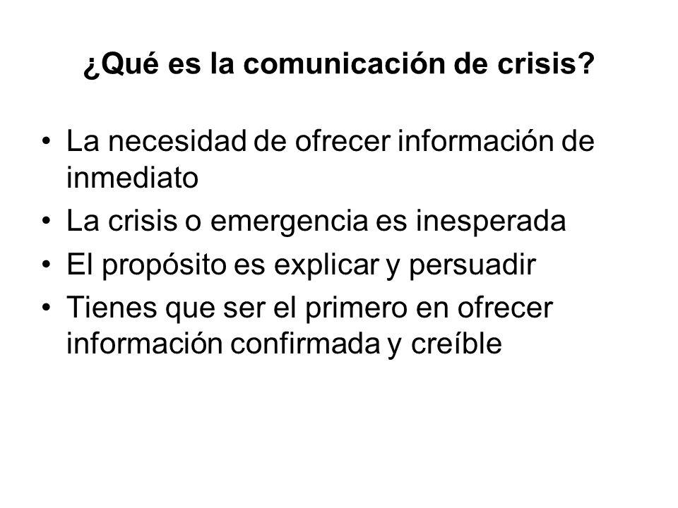 ¿Qué es la comunicación de crisis