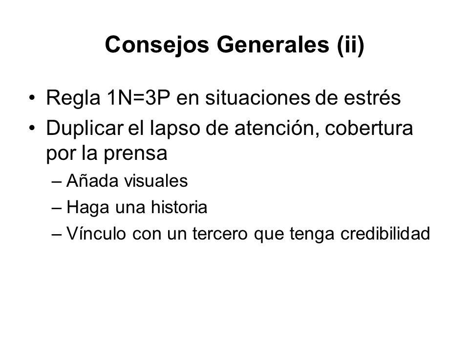 Consejos Generales (ii)