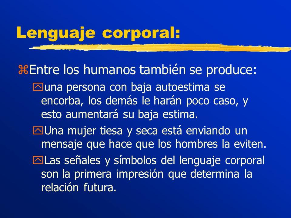 Lenguaje corporal: Entre los humanos también se produce: