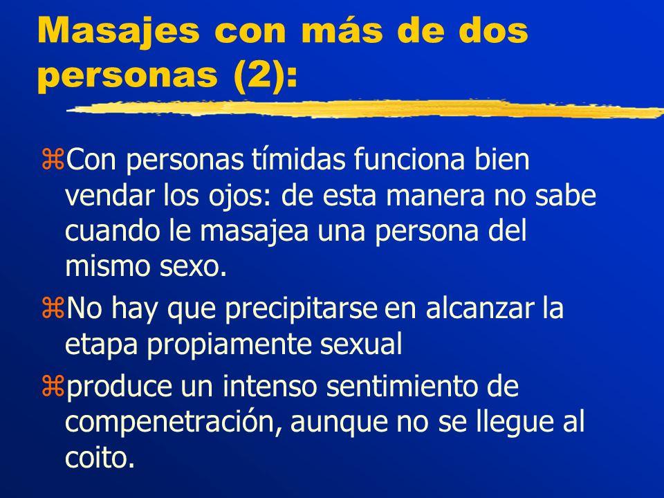 Masajes con más de dos personas (2):